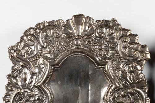 Lighting  - Silvery metal wall lights Pair end XVII°  Century