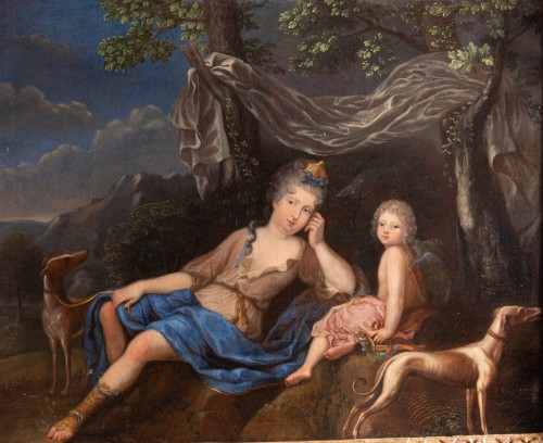 Oil on canvas  ,1705 , workshop of Pierre Gobert (1662 - 1744 ) - Paintings & Drawings Style Louis XIV