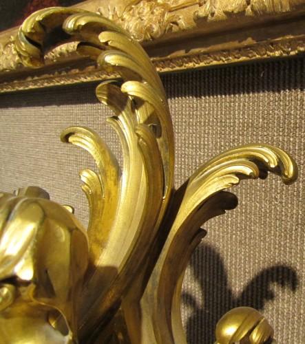 Antiquités - A Pair of Louis XV ormolu Chenets