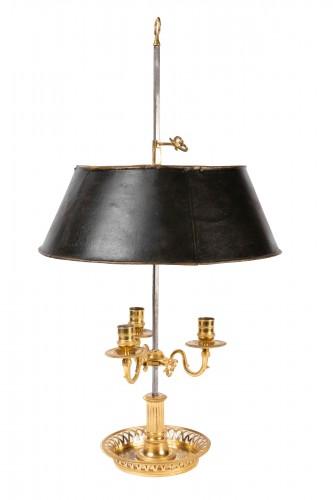 A Louis XVI Ormolu three lights Bouillotte Lamp