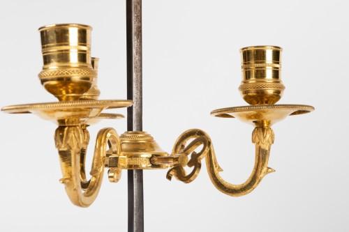 A Louis XVI Ormolu three lights Bouillotte Lamp - Louis XVI