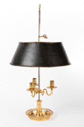 Antiquités - A Louis XVI Ormolu three lights Bouillotte Lamp
