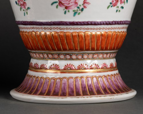 A Pair of Chinese porcelain Covered Vases -