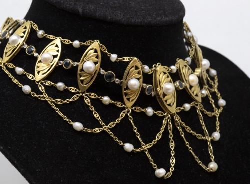 Dog Collar - Antique Jewellery Style Art nouveau