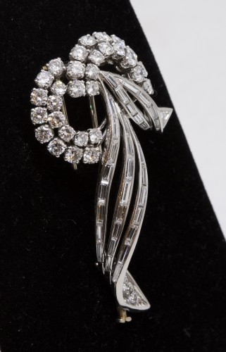 Antique Jewellery  - Gold and platinum brooch