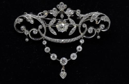 20th century - Gold and diamond pendant circa 1900-1910