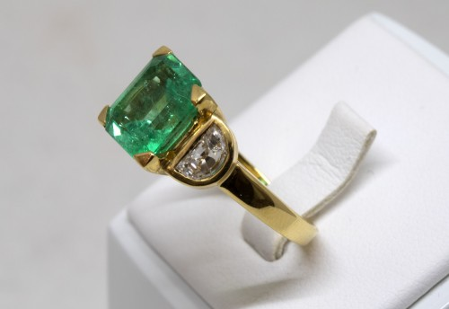 Antique Jewellery  - Emerald Ring