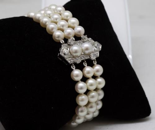 """Akoya"" pearl bracelet - Antique Jewellery Style"