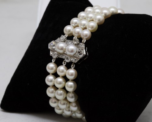 "Antique Jewellery  - ""Akoya"" pearl bracelet"