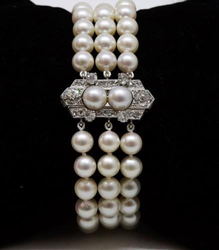 """Akoya"" pearl bracelet -"