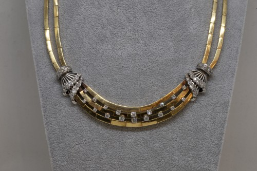 Gold and Diamonds Necklace circa 1950 - Antique Jewellery Style 50