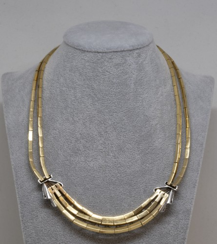 Antique Jewellery  - Gold and Diamonds Necklace circa 1950