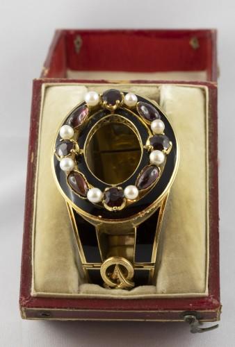 Napoleon III bracelet in 18K gold and black enamel - Napoléon III
