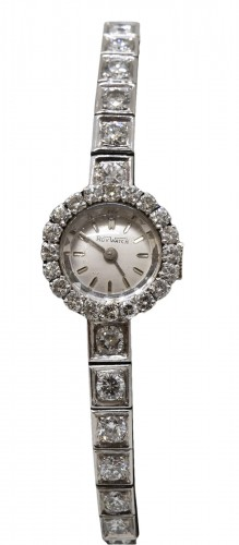 "Platinum watch brand "" Roy Watch"" set with TA diamonds"