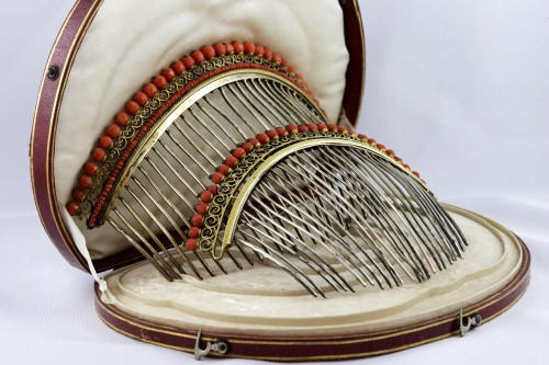 Antique Jewellery  - Combs in gilded silver vermeil