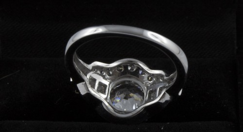 Ring in 18K white gold and diamonds -