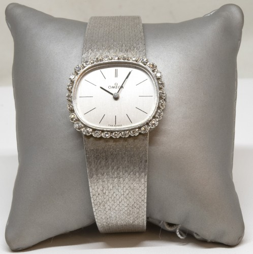 Omega 18K White Gold Watch - Antique Jewellery Style