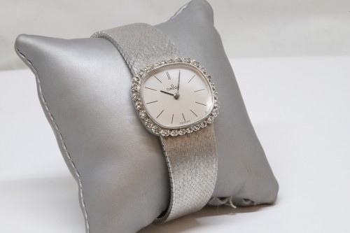Antique Jewellery  - Omega 18K White Gold Watch