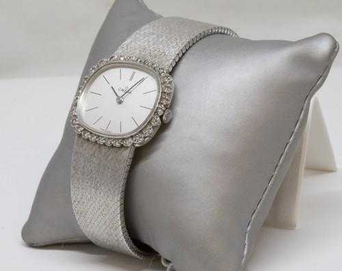 Omega 18K White Gold Watch -