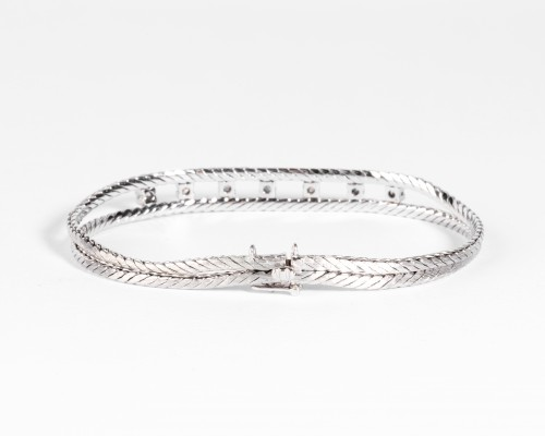 Anglais  Gold and Diamonds Bracelet - Antique Jewellery Style