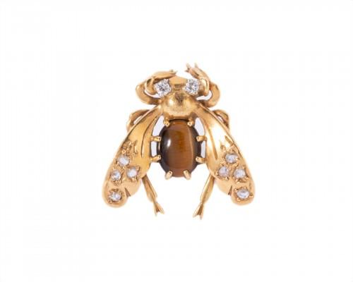 "Clip, ""bee"" in 18k yellow gold Circa 1940/1950"