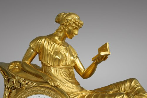 "Clocks  - French Empire-period mantel clock ""the Reader"""