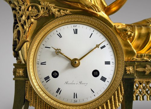 "French Empire-period mantel clock ""the Reader"" -"