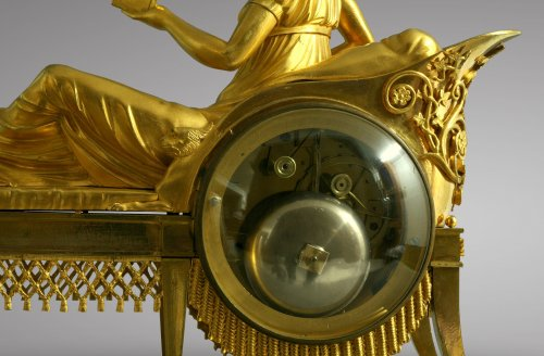 "19th century - French Empire-period mantel clock ""the Reader"""