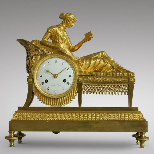 "Empire - French Empire-period mantel clock ""the Reader"""