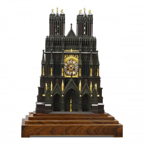 "French ""Cathedral"" clock, circa 1830"