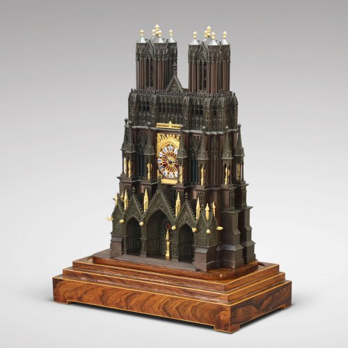 "Clocks  - French ""Cathedral"" clock, circa 1830"