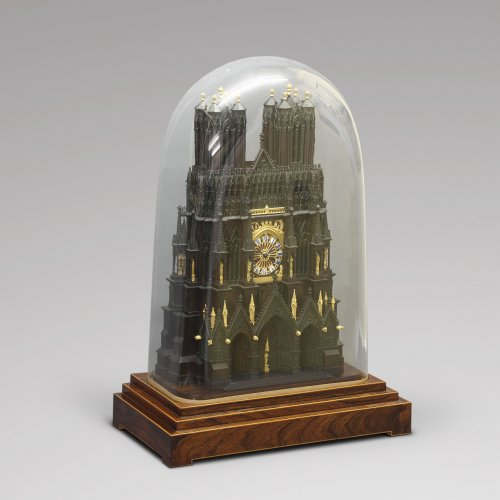"French ""Cathedral"" clock, circa 1830 -"