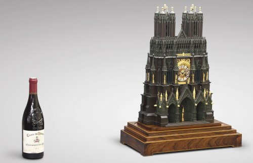 """19th century - French """"Cathedral"""" clock, circa 1830"""