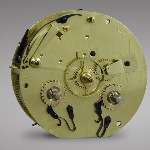 "Clocks  - French Empire-period mantel clock ""The Cup-and-Ball Lesson"""