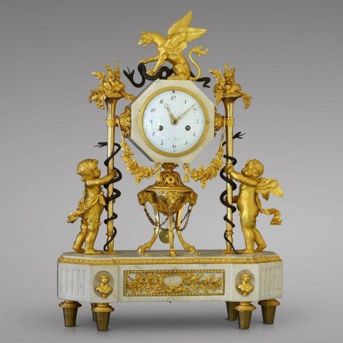 Louis XVI - French Louis XVI marble and ormolu clock