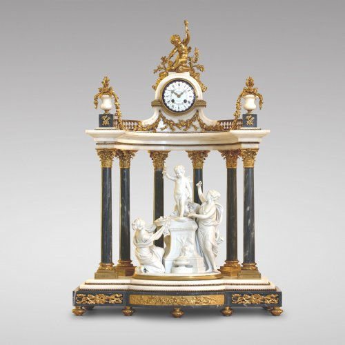 "Monumental Napoleon III mantel clock ""Offering to Cupid"""
