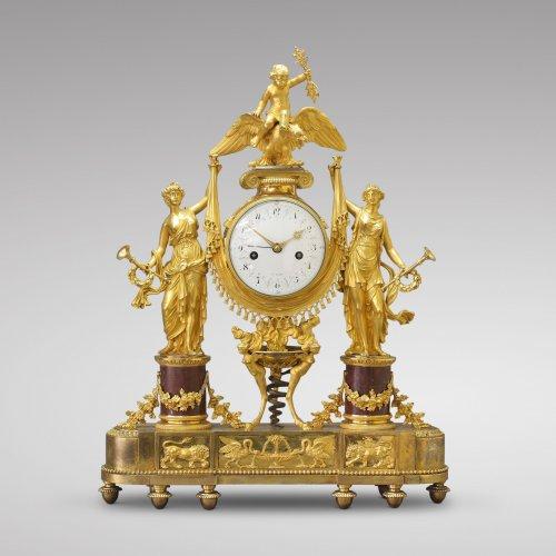 """Vestal Virgins"" Directoire-period Mantel Clock"
