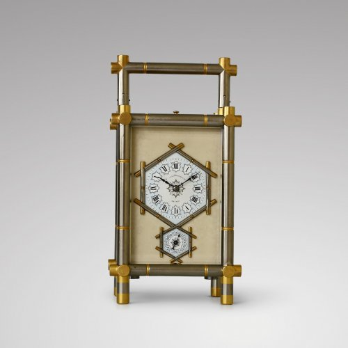 Carriage Clock with Bamboo-Style case - Clocks Style Napoléon III