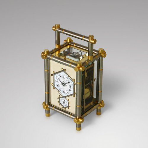 Clocks  - Carriage Clock with Bamboo-Style case