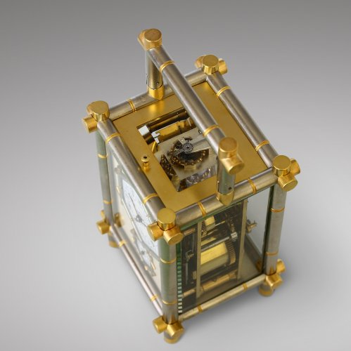 Carriage Clock with Bamboo-Style case -