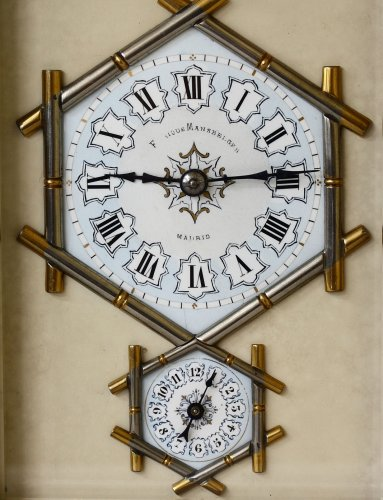 Napoléon III - Carriage Clock with Bamboo-Style case