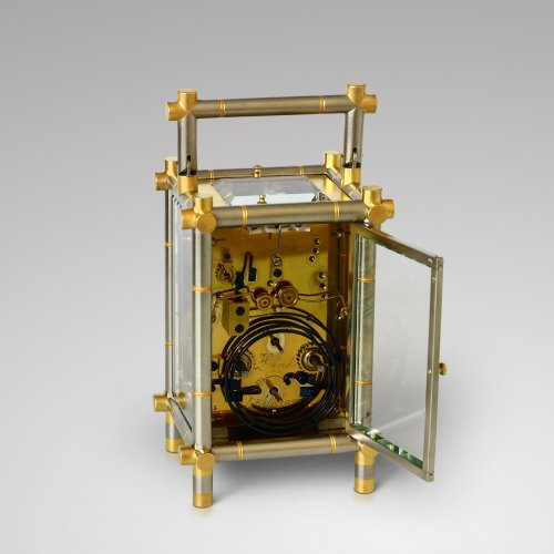 Antiquités - Carriage Clock with Bamboo-Style case