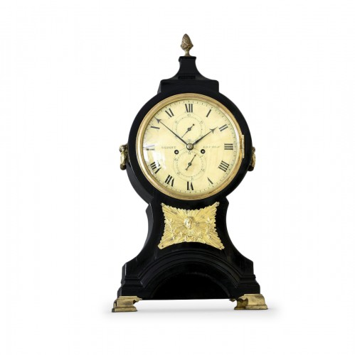 "Bracket Clock anglaise ""Balloon"" Signée  Wright, London"