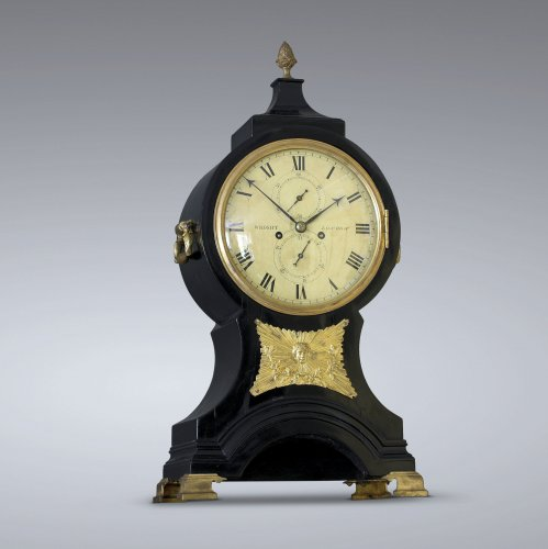 "Bracket Clock anglaise ""Balloon"" Signée  Wright, London - Horlogerie Style Louis XVI"