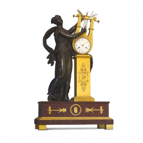 """ERATO"", Empire-period Mantle Clock, after Thomire"