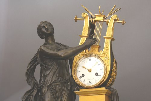 """ERATO"", Empire-period Mantle Clock, after Thomire - Clocks Style Empire"