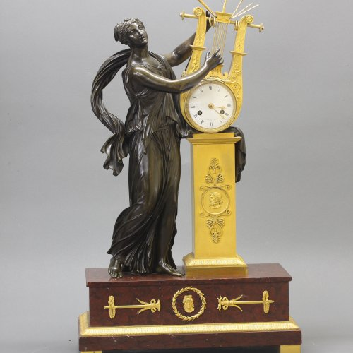 "Clocks  - ""ERATO"", Empire-period Mantle Clock, after Thomire"