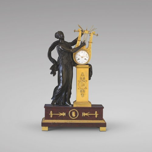 """ERATO"", Empire-period Mantle Clock, after Thomire -"