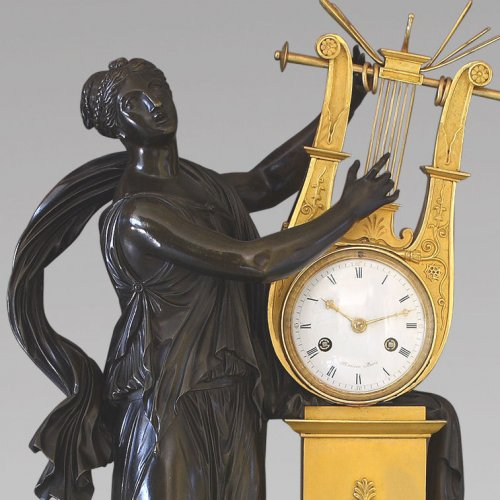 "19th century - ""ERATO"", Empire-period Mantle Clock, after Thomire"