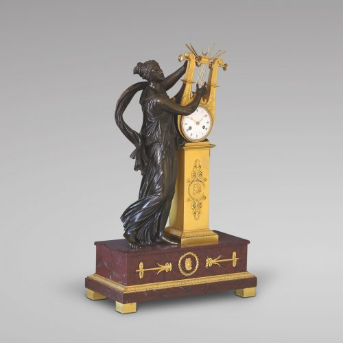 """ERATO"", Empire-period Mantle Clock, after Thomire - Empire"